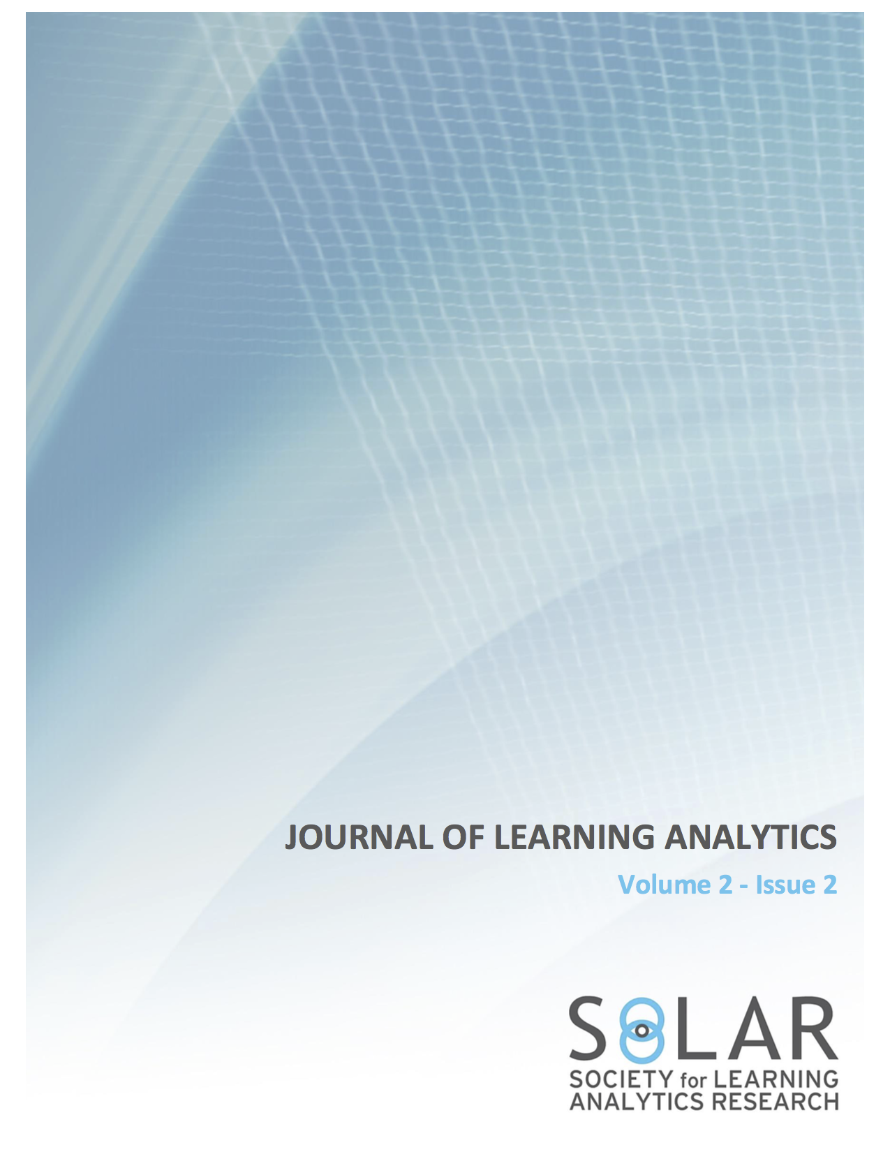 View Vol. 2 No. 2 (2015): Learning Analytics and Learning Theory