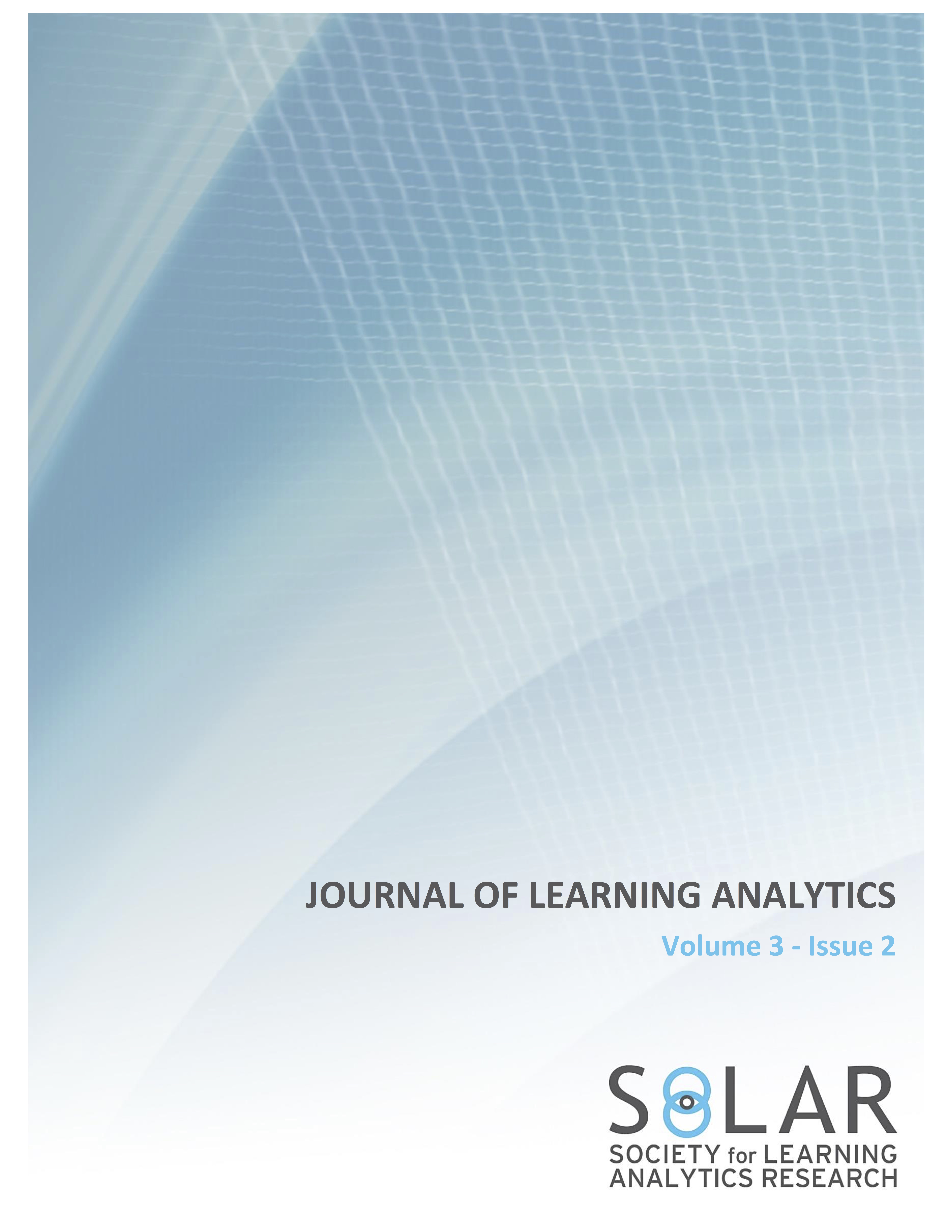 View Vol. 3 No. 2 (2016): Multimodal and 21st Century Skills Learning Analytics and Datasets